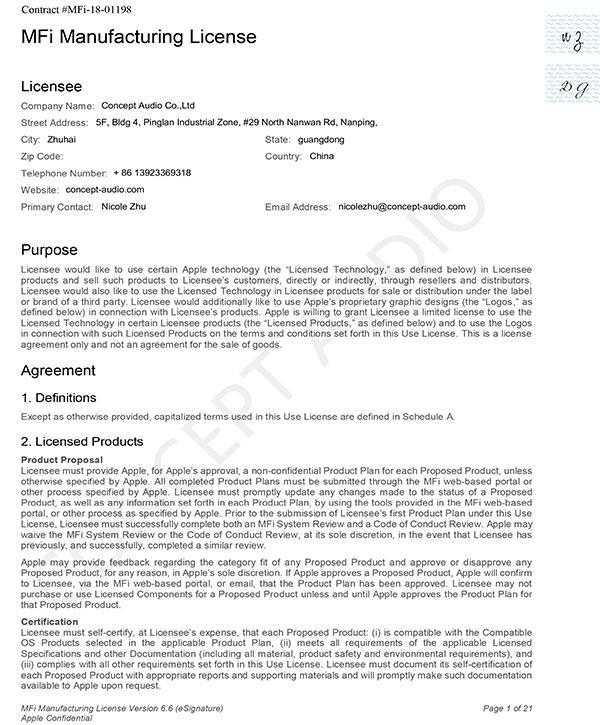 MFi Manufacturing License
