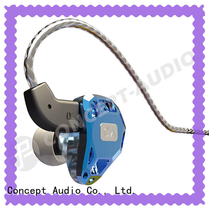 colorful universal earphones design for sport Concept Audio