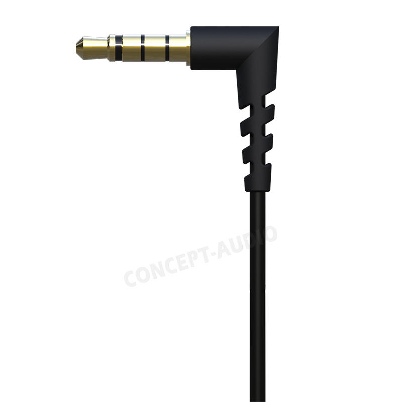 Wholesale Metal Earphone Alumium Alloy Black  In-ear Headphone