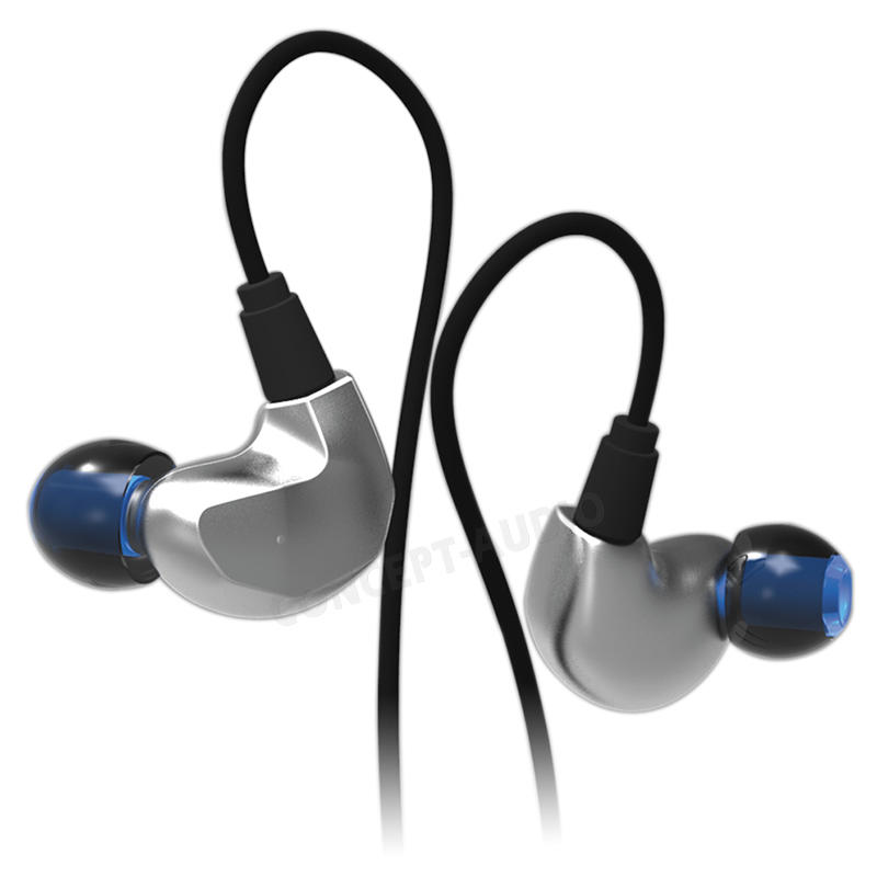 New full metal housing earphone good bass headphone noise proof