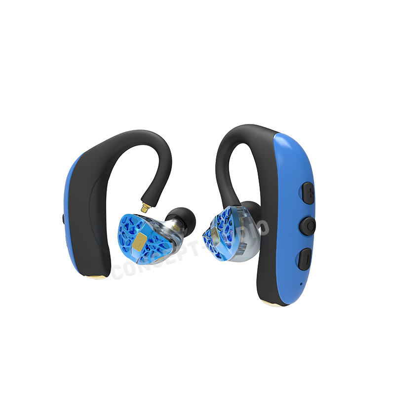 Sweatproof Waterproof Noise Cancelling TWS Earhook Bluetooth Earphone