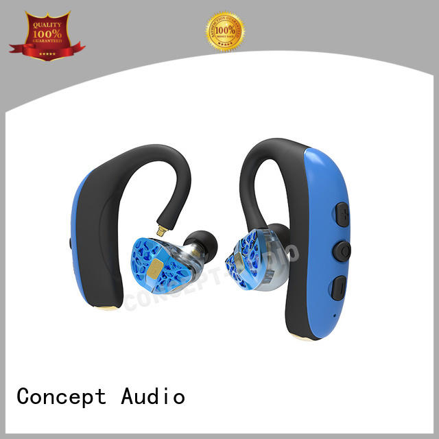 Concept Audio powerful wired headset with tangle free for sport
