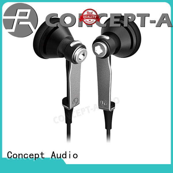 Concept Audio on ear Metal Wired Earphones no falling off for sale