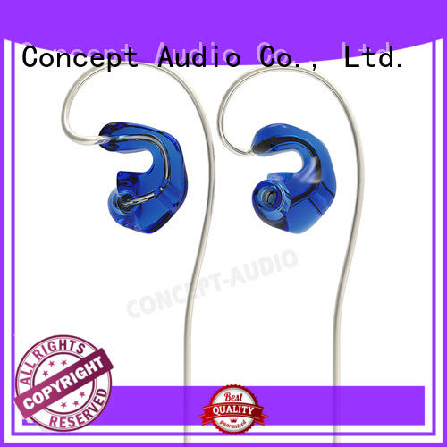 Concept Audio stereo universal earphones with three dimensional printing for sale