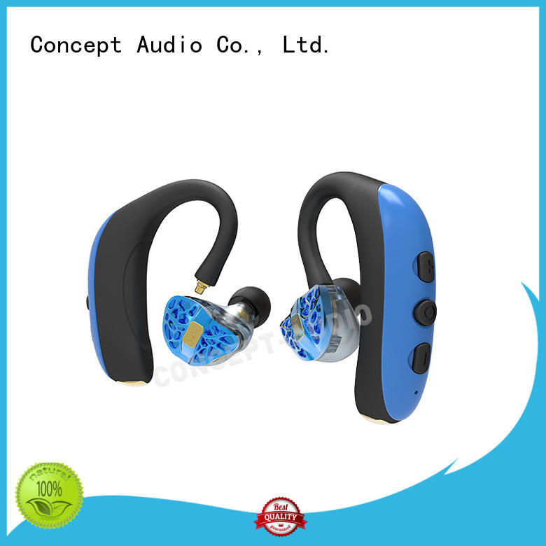 Concept Audio Brand stereo earpiece headset custom custom fit bluetooth earbuds