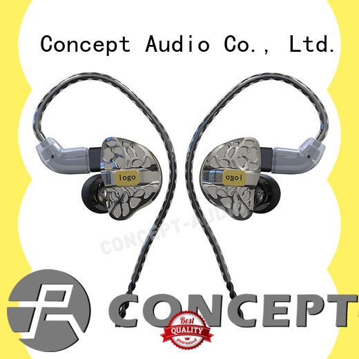 Concept Audio universal earphones with three dimensional printing for sale
