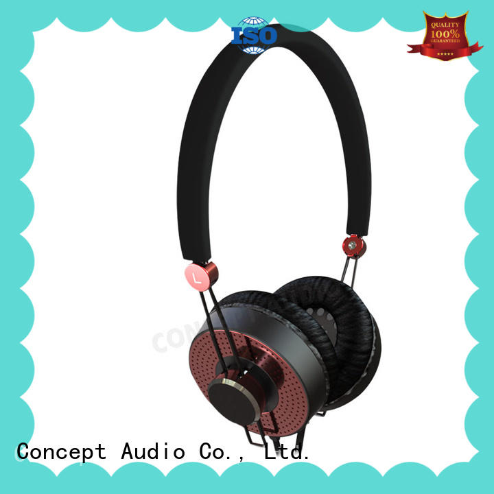 Concept Audio fashion Metal Wired Earphones with special housing design for computer
