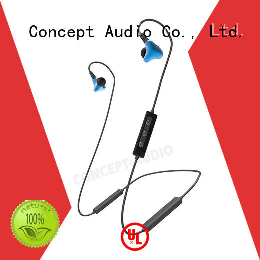 Concept Audio light best bluetooth sport earbuds with rechargeable battery for listening music