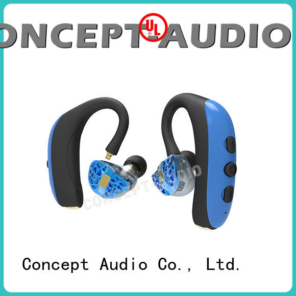 Concept Audio Brand cancelling custom fit bluetooth earbuds headset supplier