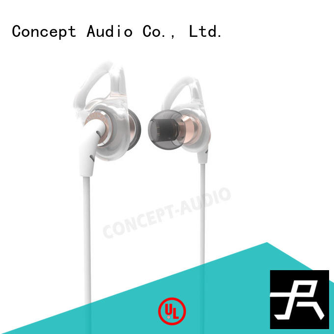 Concept Audio Brand sports wear wired earphone silicone factory
