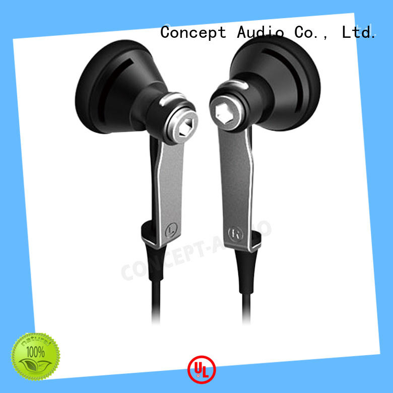 Metal Wired Earphones earpiece for sale Concept Audio