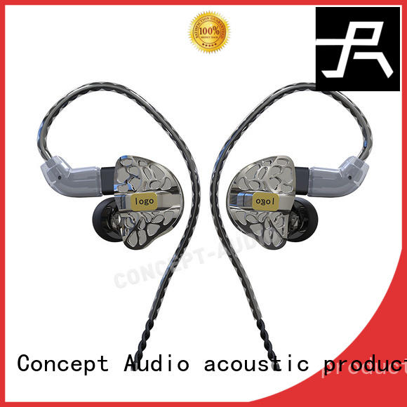 Concept Audio iem headphones with three dimensional printing for sport