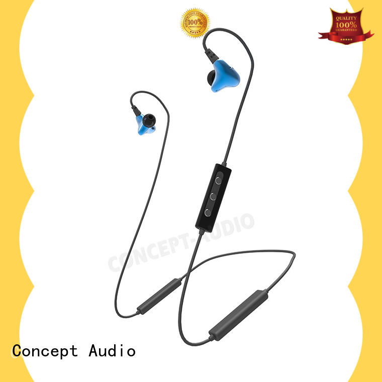 wireless waterproof in ear bluetooth headphones with rechargeable battery for sport Concept Audio