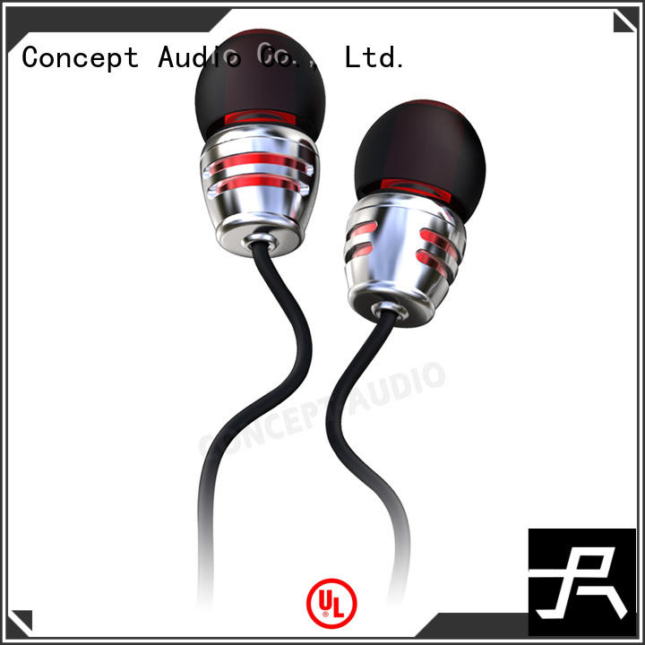 Concept Audio fashionable Metal Wired Earphones monitor for gift