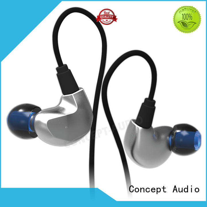 New full metal housing earphone good bass headphone noise proof