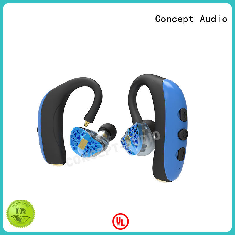 Concept Audio sweatproof detachable earbuds earhook for mobile phone