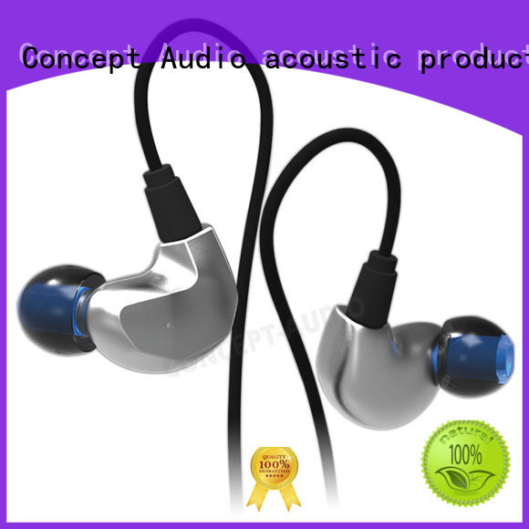 waterproof inear silicone Concept Audio Brand detachable earphone factory