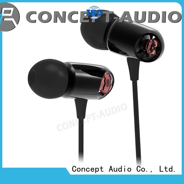 cheap custom earphones alloy diamond metal travel headphones manufacture