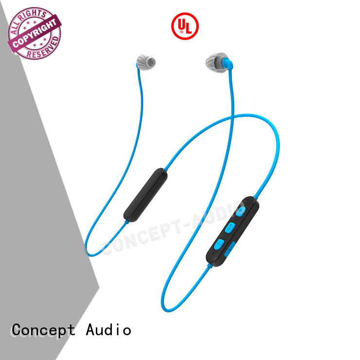 Concept Audio best bluetooth sports earphones with rechargeable battery for sale