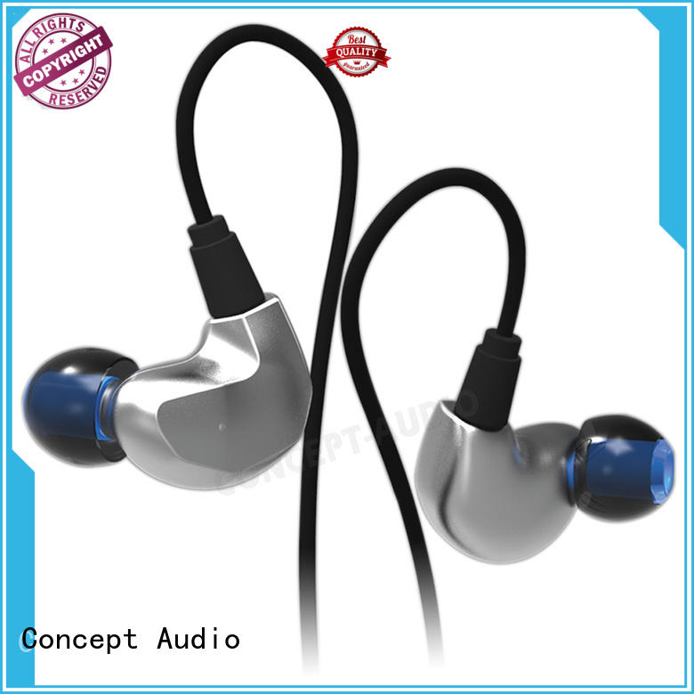 Metal Wired Earphones bass for mobile phone Concept Audio