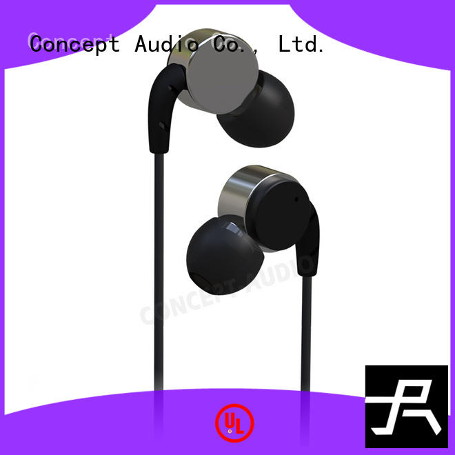 cheap custom earphones mic no travel headphones dynamic Concept Audio Brand