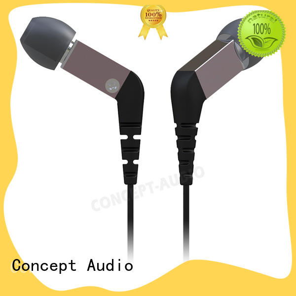electronics Metal Wired Earphones with an angle for sport