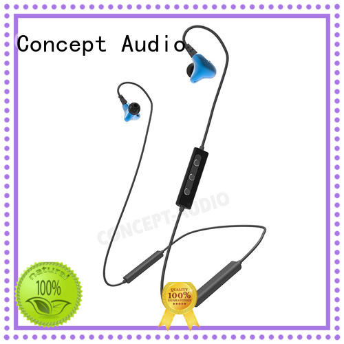 Concept Audio in ear bluetooth headset sport with mic for mobile phone