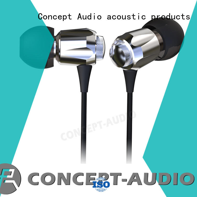 Concept Audio comfortable Metal Wired Earphones no falling off for computer