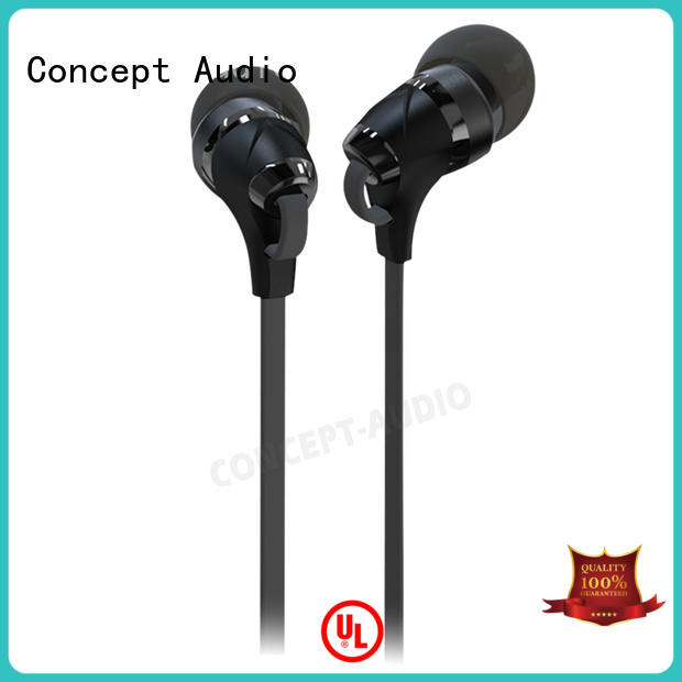 high quality hybrid earphones with special housing design for sport Concept Audio