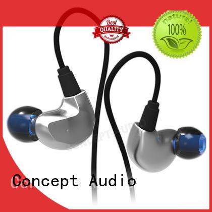 detachable earphone silicone wear Concept Audio Brand company