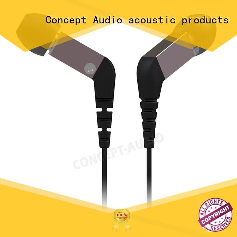 Metal Wired Earphones earpiece for computer Concept Audio