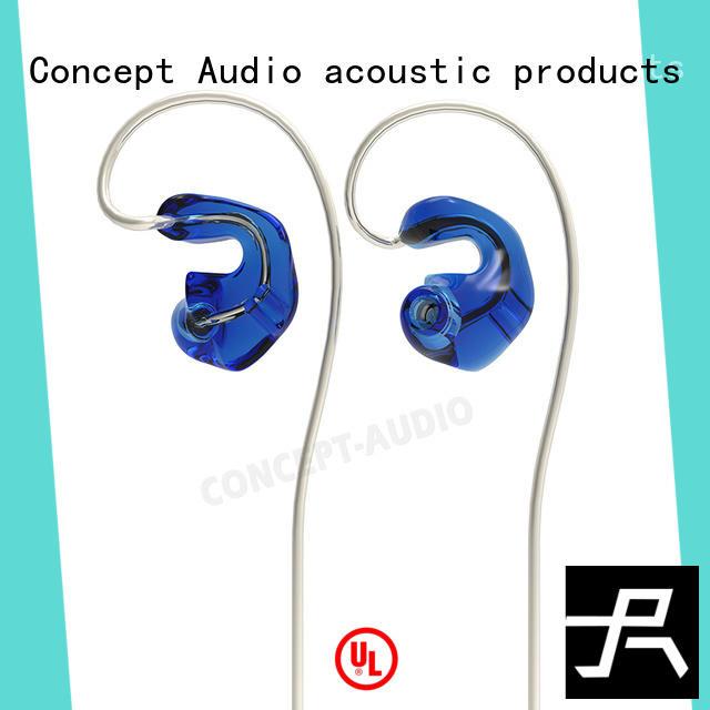 Concept Audio black iem headphones with mic for sale