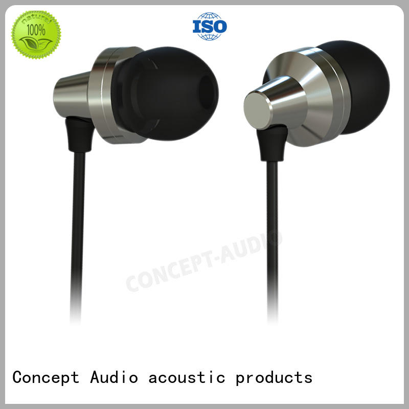 Concept Audio fashion Metal Wired Earphones earpiece for computer