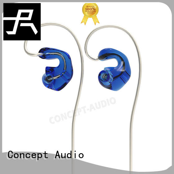 noiseproof stereo travel headphones metal Concept Audio company