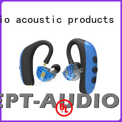 sweatproof stereo Concept Audio Brand custom fit bluetooth earbuds