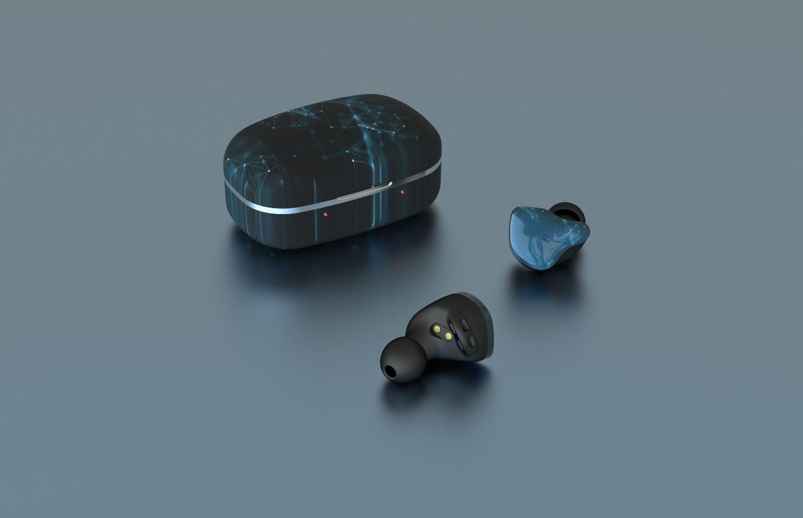 waterproof earbuds with detachable cable with three dimensional printing for sale-2