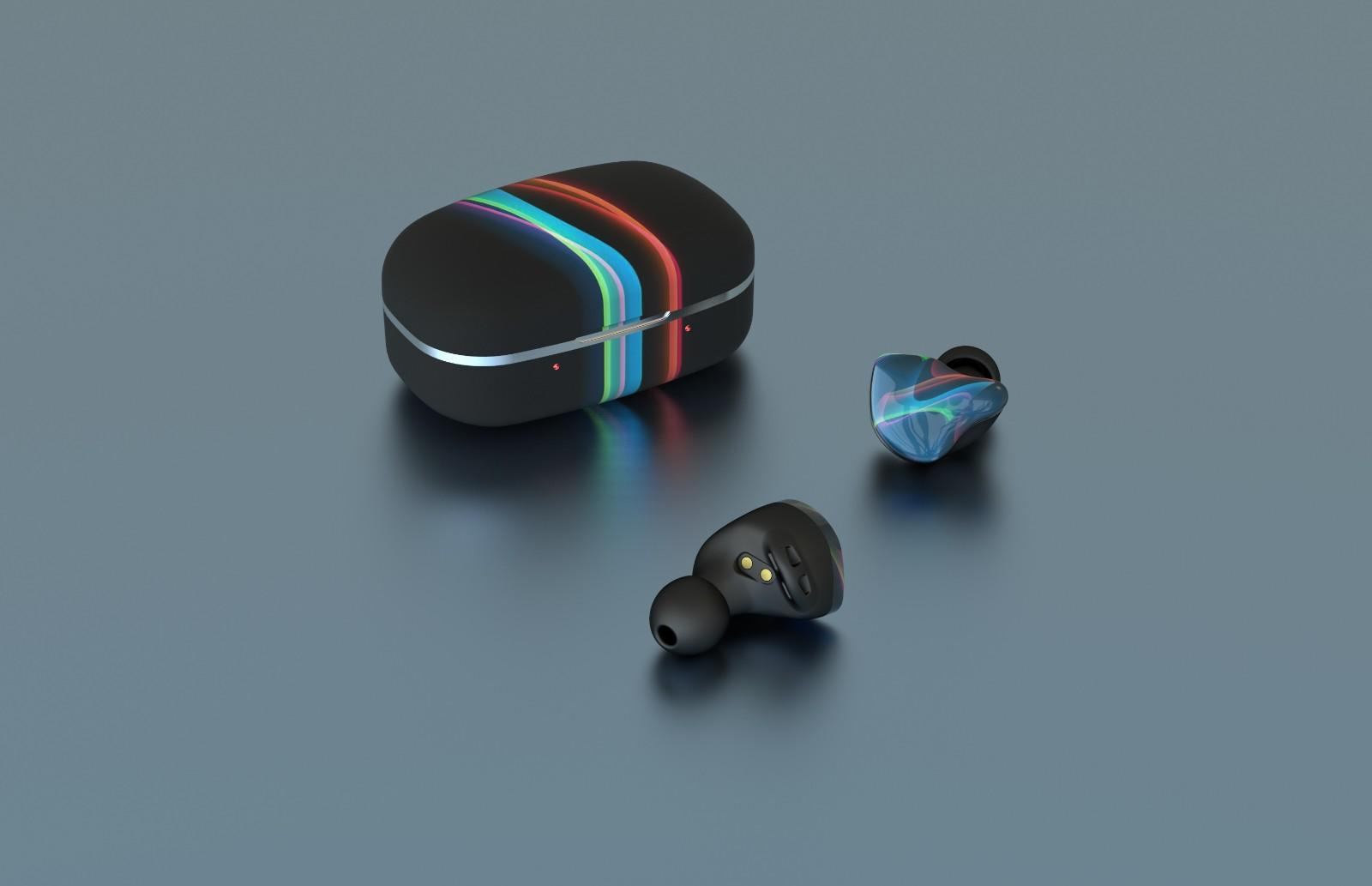 waterproof earbuds with detachable cable with three dimensional printing for sale-1